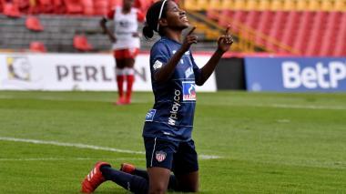 La cartagenera Yesica Caicedo anotó dos de los tres goles de Junior.