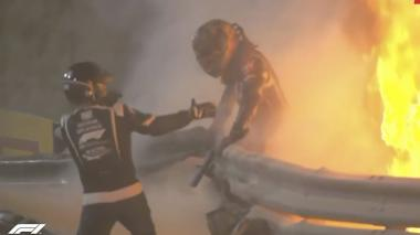 En video | Escalofriante accidente en la F1: Grosjean volvió a nacer