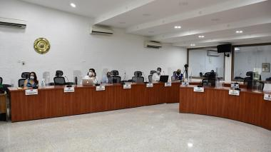 Aspecto de una sesión del Concejo de Barranquilla.