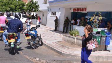 Clínica Maicao, donde fue llevado de urgencia el herido y donde expiró.