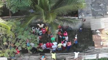En video | Gallera clandestina fue desmantelada por la Policía
