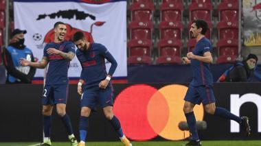 Con goles de Hermoso y Carrasco, el Atlético vence al RB Salzburg.