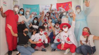 Niños en el hospital de Riohacha recibieron una dosis de alegría