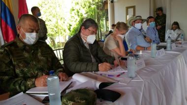 Mindefensa lidera consejo de seguridad en Montería