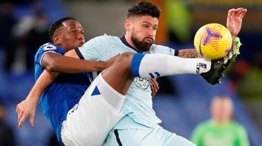 Sin James Rodríguez pero con Yerry Mina, Everton triunfa ante el Chelsea