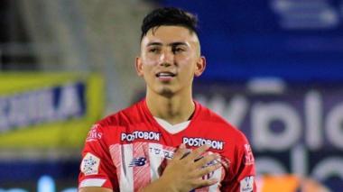 Fabián Ángel ingresó en el segundo tiempo frente al América.