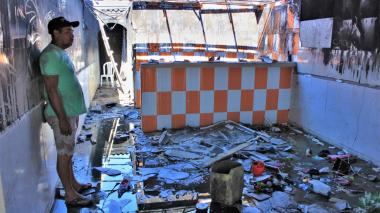 El fuego consumió la casa de los Ariza en Tasajera
