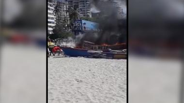 Hombre incendió dos canoas en El Rodadero