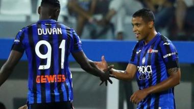 Zapata y Muriel anotaron dos de los cuatro goles del Atalanta.