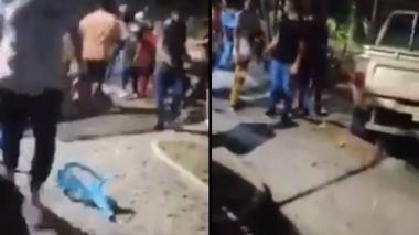 Camioneta arrolla a nueve personas en parque de San Alberto, Cesar