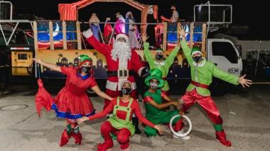 Pesebres móviles recorren barrios de Santa Marta