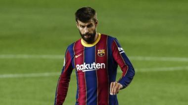 Gerard Piqué se encuentra fuera de acción por una lesión en la rodilla.