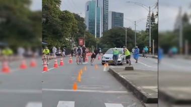 Conductora en estado de embriaguez irrumpió en ciclovía de Medellín