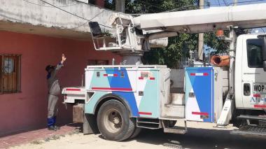 Air-e instaló nuevo transformador en el barrio Los Fundadores, de Soledad