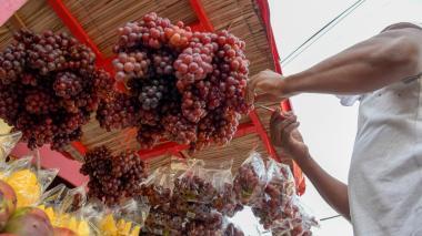 La venta de uvas en el Centro se ha incrementado en los últimos días.