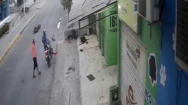 El motorizado falleció en el acto.