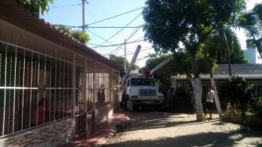 En Malambo avanzan las obras de mejora eléctrica