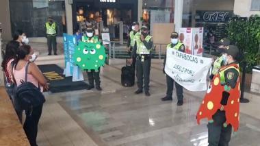 Policía afianza las actividades de prevención de la Covid-19 en Sucre