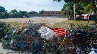 Aspecto actual de la cancha de San Isidro.