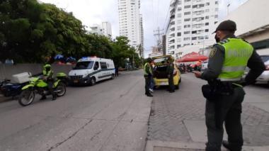 La Policía Metropolitana realiza controles en todos los sectores de Cartagena.