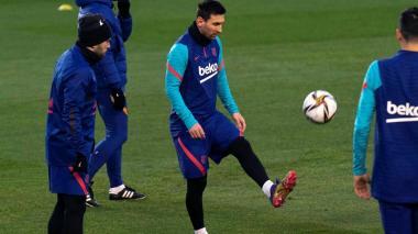 La ausencia de Messi es la principal novedad en el once del Barcelona.
