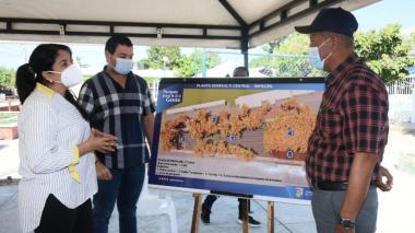 Inician obras para mejorar la plaza y el parque cementerio de Repelón