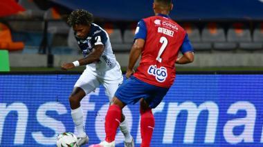 Fabián Viáfara, durante el partido contra Independiente Medellín en el que se lesionó.