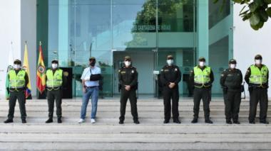 Condecoran a 4 policías de Cartagena tras capturar a 4 señalados sicarios