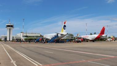 Aeropuerto de Riohacha recuperó el 54.84% de sus operaciones
