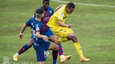 Carlos Bacca fue titular en el empate 0-0 entre Huesca y Villarreal