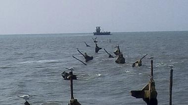 Otro tramo del viejo muelle de Puerto Colombia colapsó por fuerte oleaje