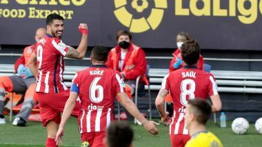Luis Suárez, líder del Atlético de Madrid, comanda otra victoria