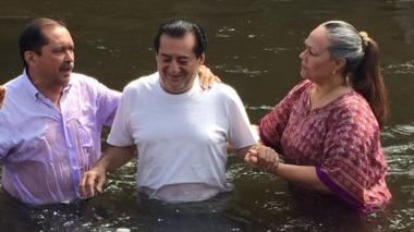 Jorge Oñate se convirtió al cristianismo desde 2015.