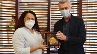 Mayerlin Vergara, una heroína, dice alto comisionado de ONU