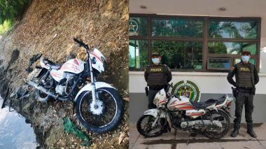 Motocicleta robada en Montería fue hallada en el fondo del río Sinú