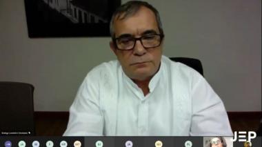 Rodrigo Londoño  en diligencia de aporte a la verdad por el crimen de Álvaro Gómez Hurtado.
