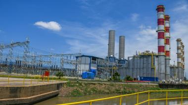 Aspecto de la planta de la generadora Tebsa ubicada en el Atlántico.