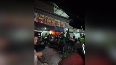Incendio se registra en una chatarreria de Riohacha