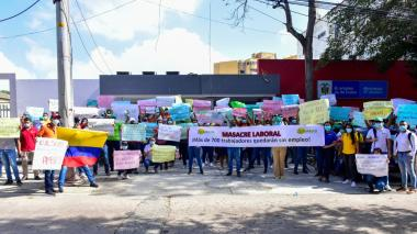 Trabajadores de Ambuq exigen que la EPS no sea liquidada