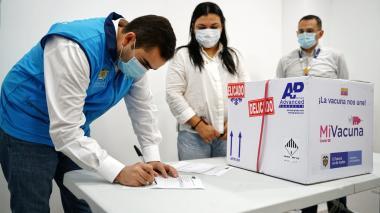 Llegaron las primeras 1.260 vacunas contra covid a Cartagena