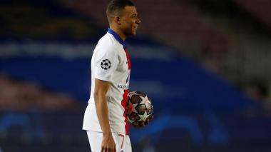 Kylian Mbappé y Erling Haaland lideran el once de la Uefa