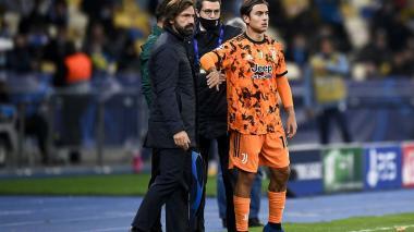 Pirlo confirma que Dybala seguirá de baja por lesión en la rodilla