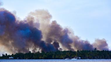 Nuevo incendio en Vía Parque Isla de Salamanca afectó 12 hectáreas