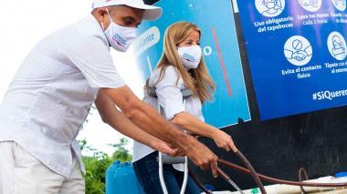 25 millones de litros de agua fueron entregados en Atlántico en pandemia