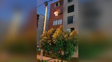 Se incendió un apartamento en Puerto Tambora, Soledad