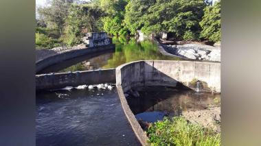 Reportan baja del caudal del río Tapias de Riohacha