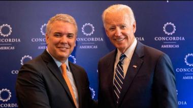 Joe Biden le manifestó a Duque su apoyo a Colombia