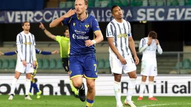 Verona 1 - Juventus 1: Barak neutraliza a Cristiano