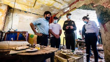 Derriban punto de expendio de drogas en el barrio San José