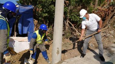 Iniciaron obras de normalización eléctrica en La Esmeralda